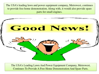The USA's Leading Lawn And Power Equipment Company, Metrowes