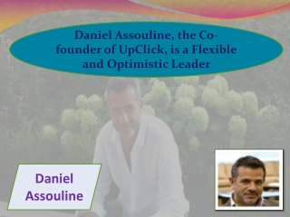 Daniel Assouline, the Co-founder of UpClick, is a Flexible a