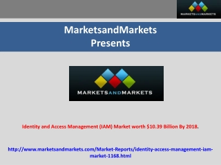 Identity and Access Management  Markets