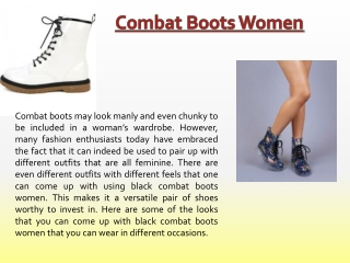 Womens Combat Boots