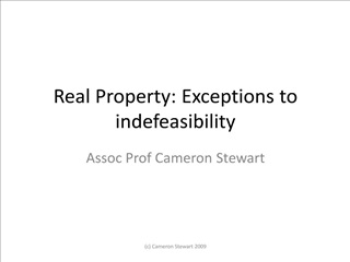 real property: exceptions to indefeasibility