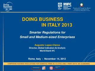 DOING BUSINESS    IN ITALY 2013