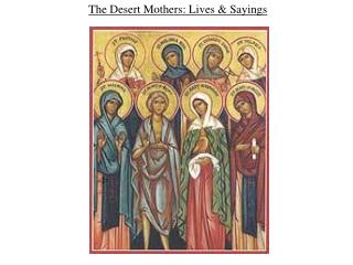 the desert mothers: lives  sayings