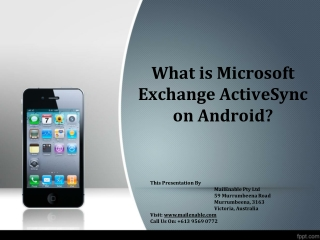 What is Microsoft Exchange ActiveSync on Android?