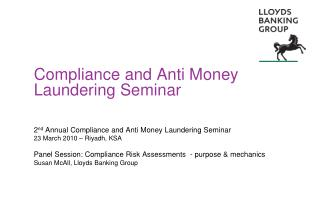 Compliance and Anti Money Laundering Seminar