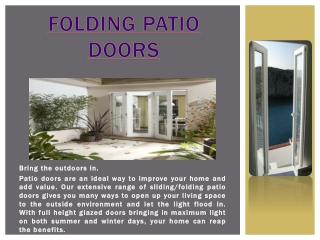 Bifolding Patio Doors