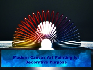 Modern Canvas Art Painting for Decorative Purpose