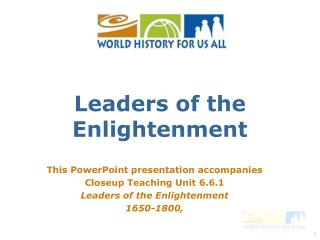 Leaders of the Enlightenment
