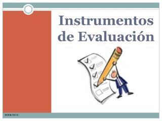 Instrumentos de Evaluaci n