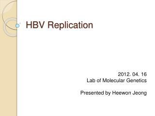 HBV Replication