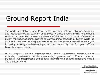 Ground Report India