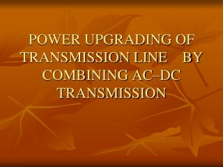 flexible ac transmission system overview