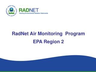 RadNet Air Monitoring  Program EPA Region 2