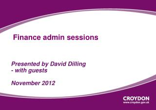 Finance admin sessions