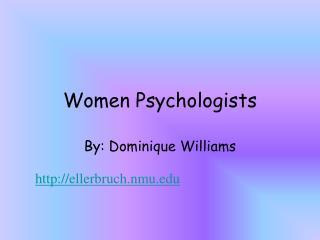 Women Psychologists