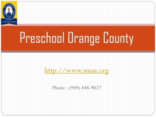 St. Mary's Preschool Orange County