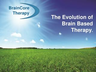 The Evolution of Brain Based Therapy.