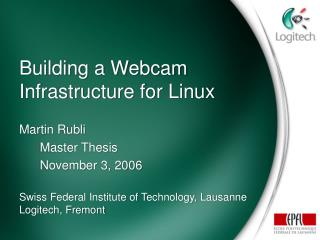 Building a Webcam Infrastructure for Linux