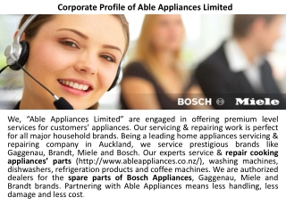 Corporate Profile of Able Appliances