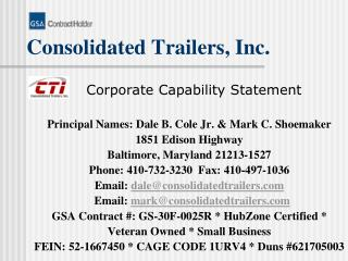 Consolidated Trailers, Inc.