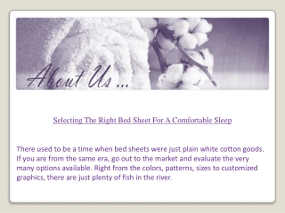 Selecting the Right Bed Sheet for a Comfortable Sleep