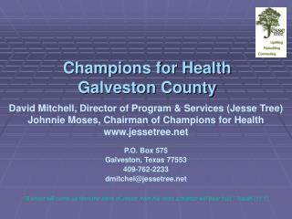 Champions for Health Galveston County