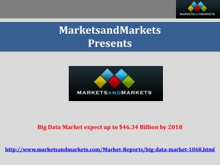 Big Data Market worth $46.34 Billion by 2018
