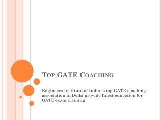 Top GATE coaching