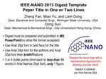 IEEE-NANO 2013 Digest Template Paper Title in One or Two Lines
