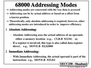 68000 addressing modes