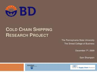 Cold Chain Shipping Research Project