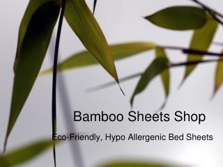Buy bamboo sheets set from Bamboo Sheets Shop