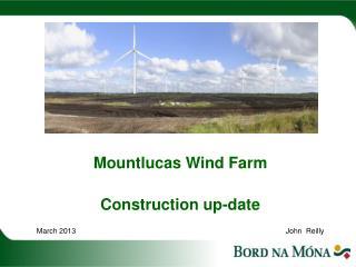 Mountlucas Wind Farm  Construction up-date  March 2013