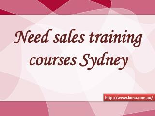 Need Sales Training Courses