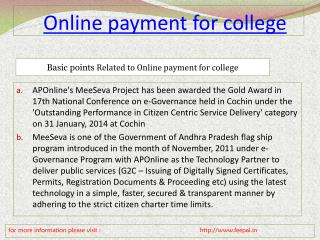 online payment for college process fee structure