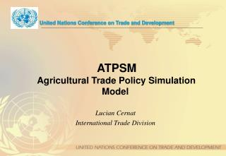 ATPSM   Agricultural Trade Policy Simulation Model