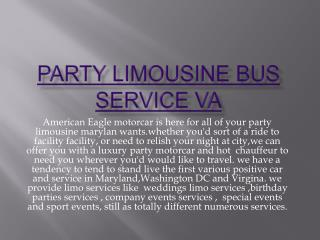 maryland party limo bus service
