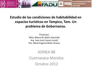 Estudio de las condiciones de habitabilidad en espacios tur sticos en Tampico, Tam. Un problema de Gobernanza.