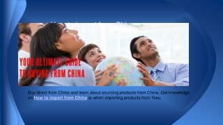 China product sourcing