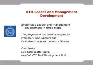 KTH Leader and Management Development
