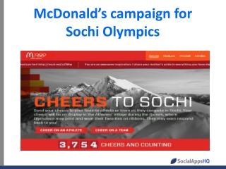 McDonald's campaign for Sochi Olympics