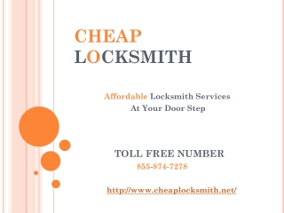 Cheap Locksmith Services