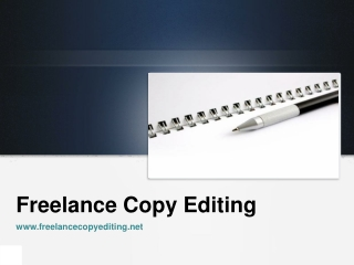 freelance copy editing