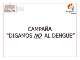 CAMPA A   DIGAMOS NO  AL DENGUE