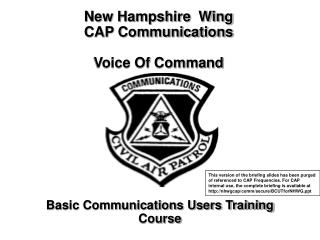 new hampshire  wing                 cap communications  voice of command