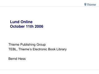 Lund Online October 11th 2006