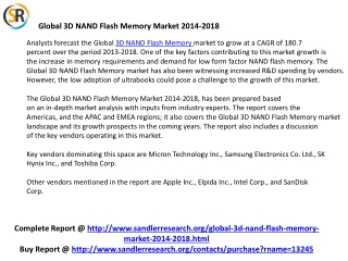 Key Companies for 3D NAND Flash Memory Industry Micron Techn