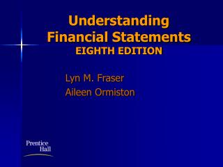 understanding  financial statements    eighth edition