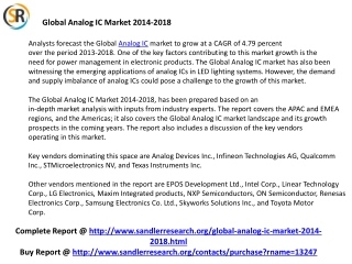 Analog IC Industry Growth Worldwide by 2018