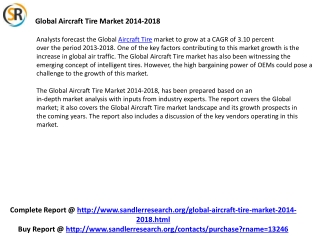 Global Aircraft Tire Market Growth, Trends and Forecast 2014